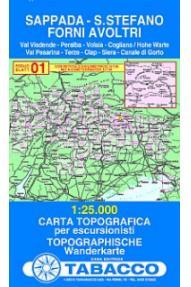 Zemljevid 01 Sappada, Santo Stefano, Forni Avoltri - Tabacco