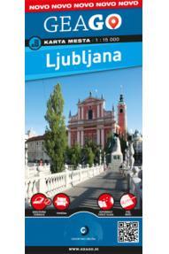 Mestna karta GeaGo Ljubljana 1:15.000